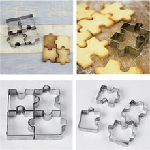 Load image into Gallery viewer, Puzzle Shape Stainless Steel Cookie Cutter (4pcs)