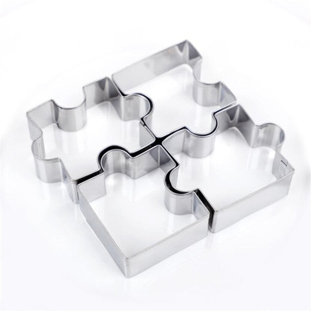 Puzzle Shape Stainless Steel Cookie Cutter (4pcs)