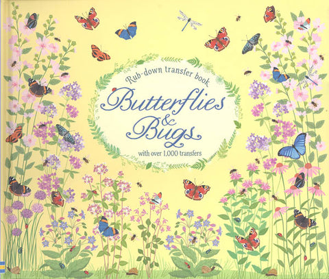 Rub-down Transfer Book - Butterflies & Bugs