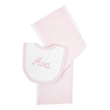 3 Marthas Bib & Burp Cloth Set / Seersucker