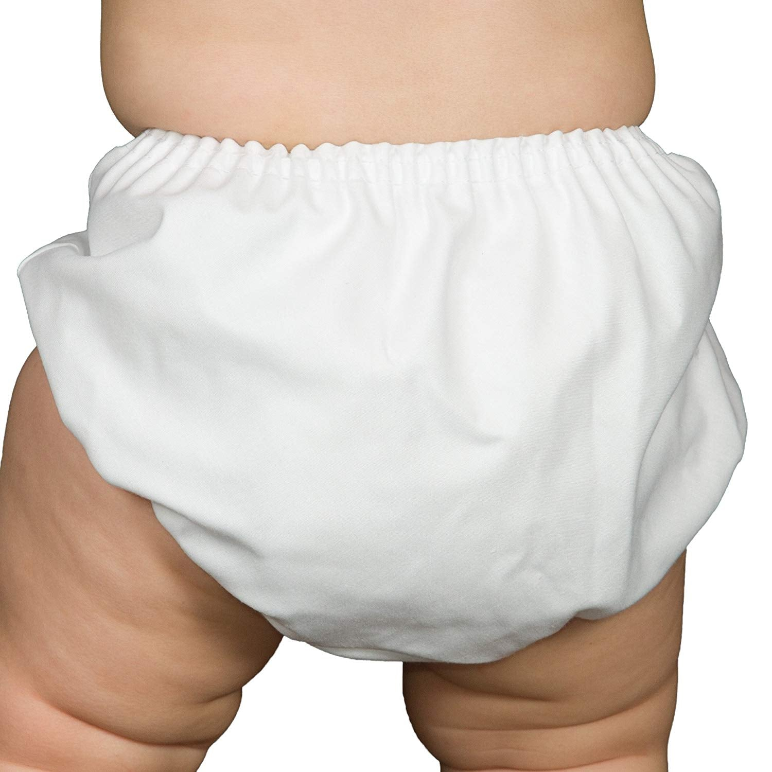 Unisex White Batiste Diaper Cover