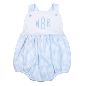 Baby Bliss Blue Gingham Bubble