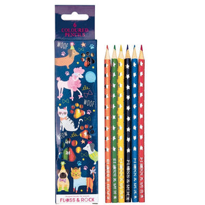 Floss & Rock Pets Pack of 6 Colored Pencils