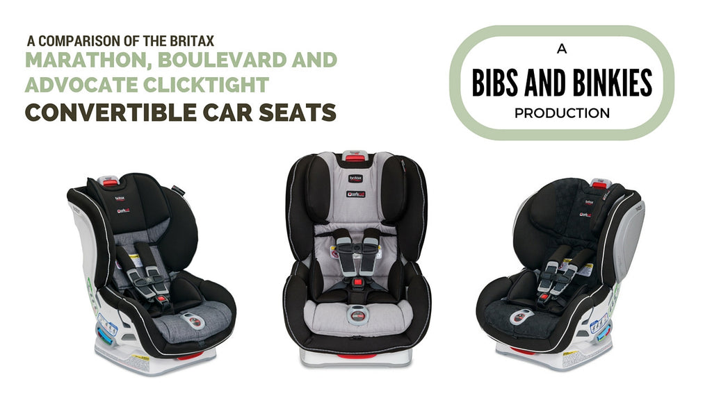 Product Comparison of the NEW Marathon, Boulevard and Advocate Clicktight Convertible Car Seats