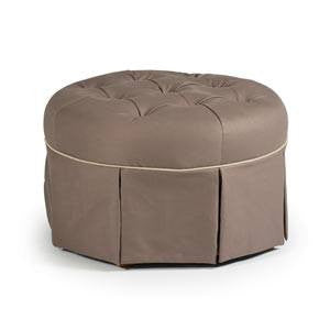 Storytime Series ROUND TUFTED OTTOMAN by Best Chairs - Bibs and Binkies