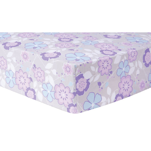 Grace Floral Cotton Crib Sheet