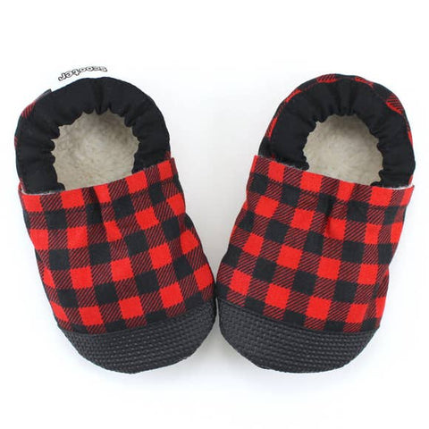 Buffalo Plaid Scooter Booties