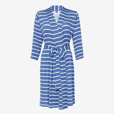 Denim Blue Stripes Pregnancy Robe