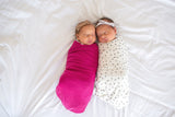 Knit Swaddle Blanket - Berry