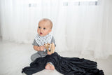 Knit Swaddle Blanket - Midnight