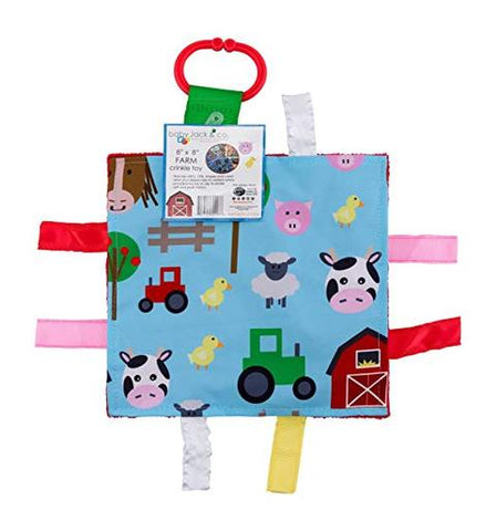 Crinkle Tag Square - Farm