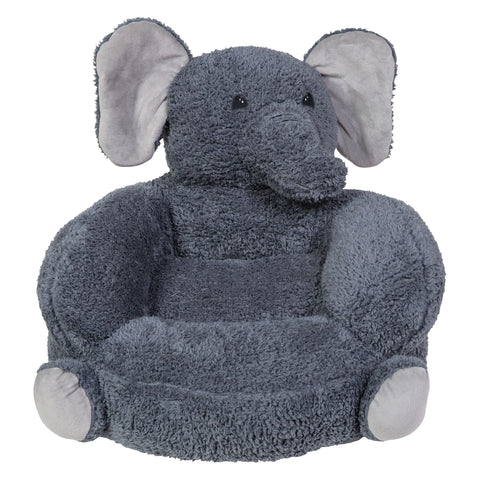 Children's Plush Elephant Character Chair