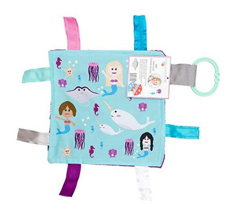Crinkle Tag Square - Mermaid