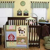 Baby Barnyard 3 Piece Crib Bedding Set