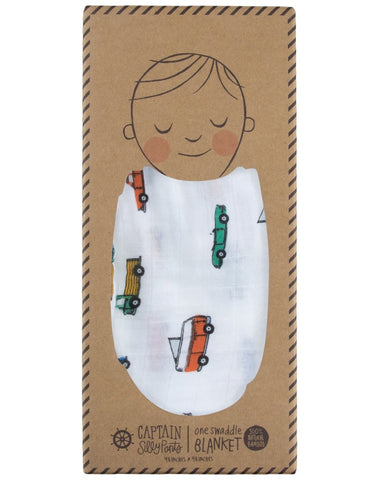 Beep Beep Single Swaddle