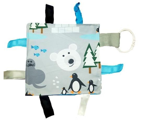 Crinkle Tag Square - Polar