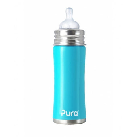 Pura Kiki Stainless Infant Bottle 11oz - Bibs and Binkies - 1