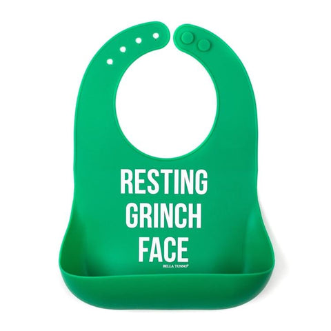 Grinch Face Wonder Bib