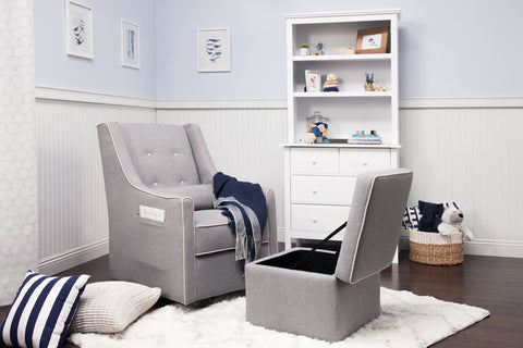 Owen Swivel Glider and Storage Ottoman