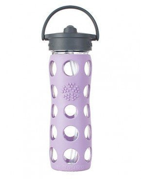 Adult Glass Bottle w/Staw Cap 16 oz. - Bibs and Binkies - 1