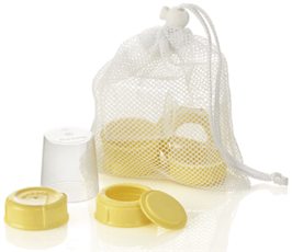 Medela Breastmilk Bottle Spare Parts Kit - Bibs and Binkies