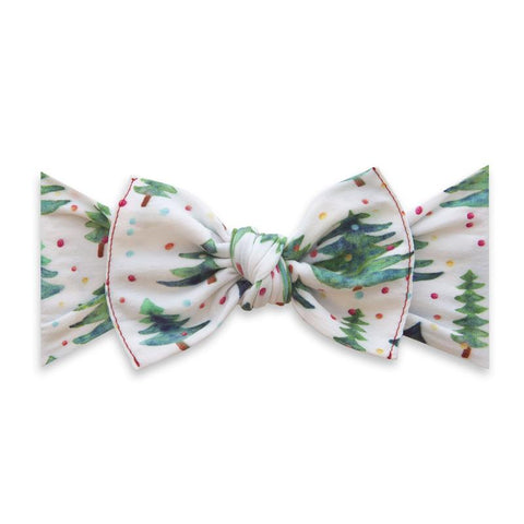 Printed Knot Bow - Gumdrop Pine