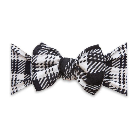 Printed Knot Bow - Knitted Plaid