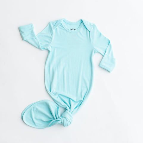 Mint Bamboo Viscose Infant Knotted Gown