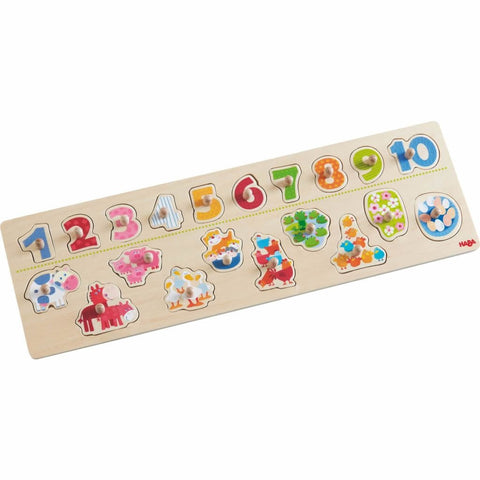 Animals By Number Clutching Puzzle