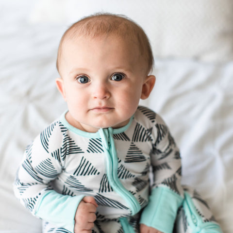 Triangles Convertible Sleeper/Romper