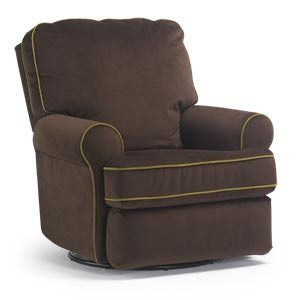 Storytime Series TRYP Swivel Glider/Power Rocker Recliner by Best Chairs - Bibs and Binkies
