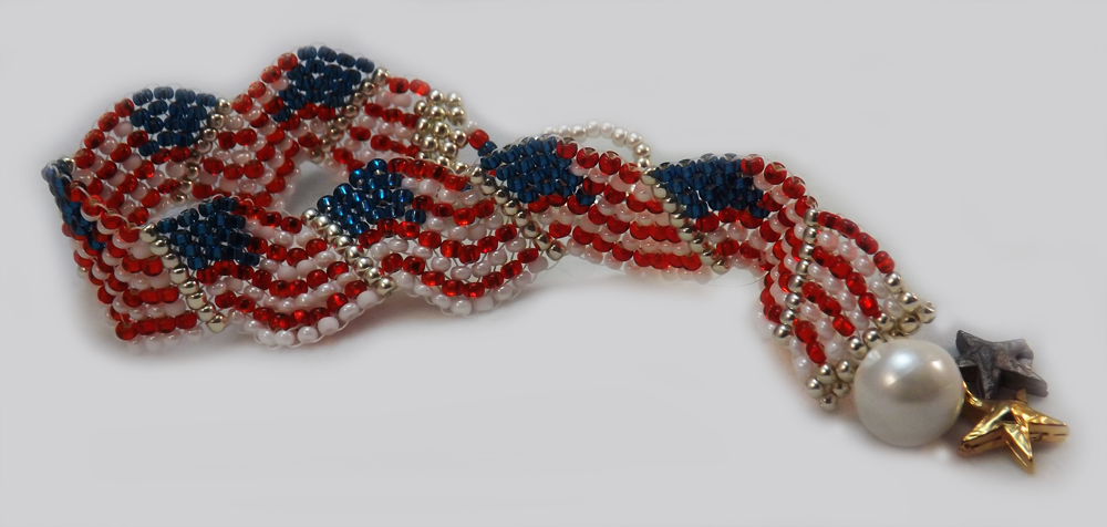 American Flag Bracelet-- Instructions