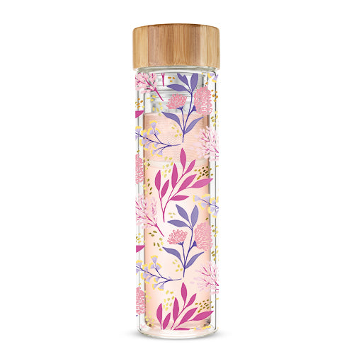 Blair™ Botanical Bliss Glass Travel Infuser Mug by Pinky Up®