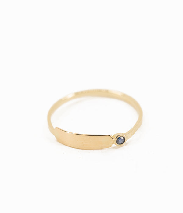 Birthstone Bar Ring