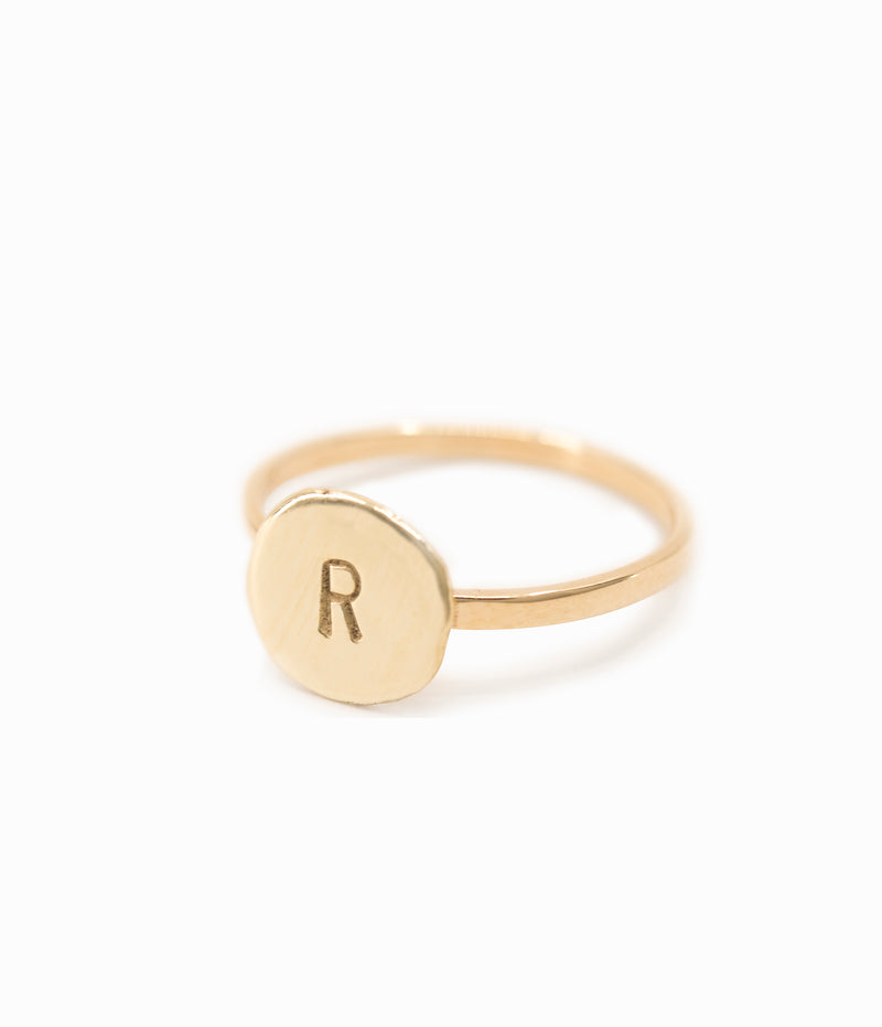 Pebble Letter Ring