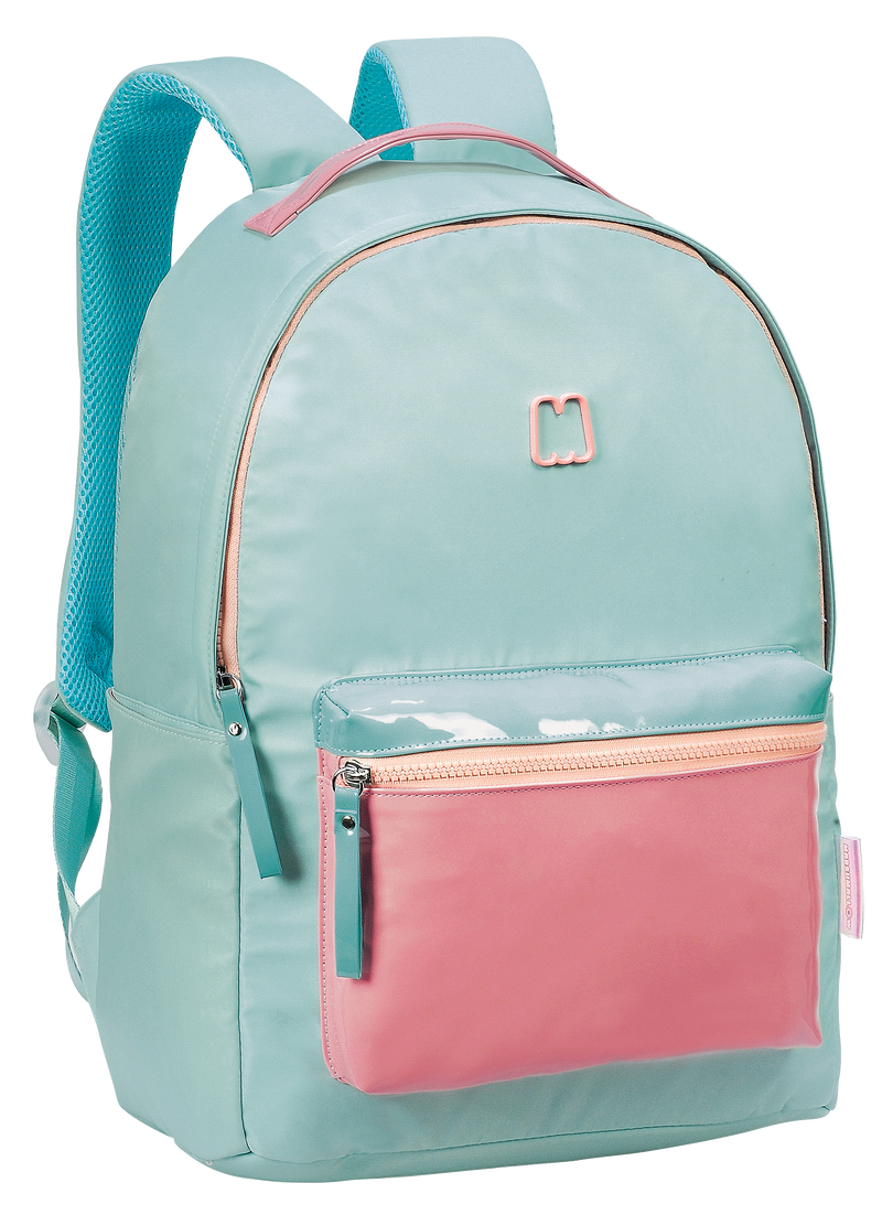 BACK PACK 42CM VINYL BLUE