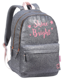 BACK PACK 44CM BRIGHT SILVER