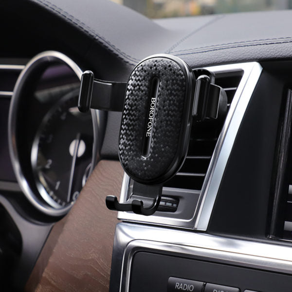 AIR OUTLET GRAVITY IN-CAR HOLDER BLACK