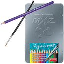 Color Pencil Aquarellie 12 Metal Case