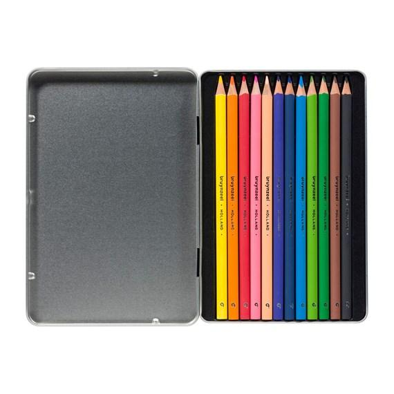 Bruynzeel-Color Pencil 12 Color Triangle In Metal Case-60212002