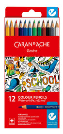 Caran d'Ache-Water Color Pencil 12pcs School-1290.712