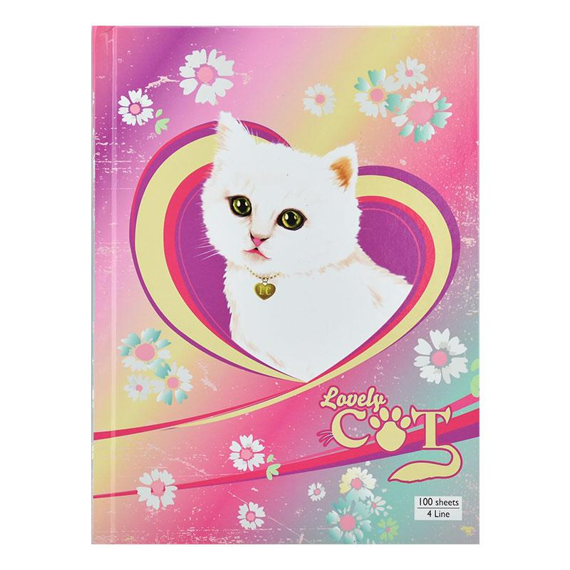 Notebook 4 Line H/C Lovely Cat