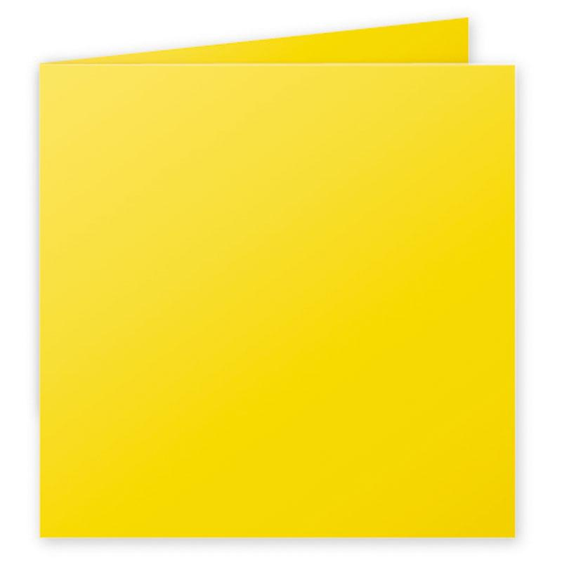 Folded Card Pollen 210g 160x160mm Intensive Yellow 25 Pieces Pack-2143
