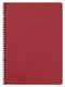 Clairefontaine-Spiral Note Book A4 50 Sheet AgeBag Cherry Red-781452