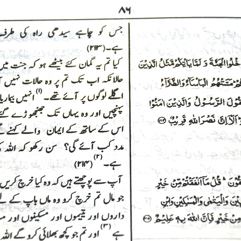 Quran 14 x 20 translation with meanings and interpretation of Urdu - Chamois