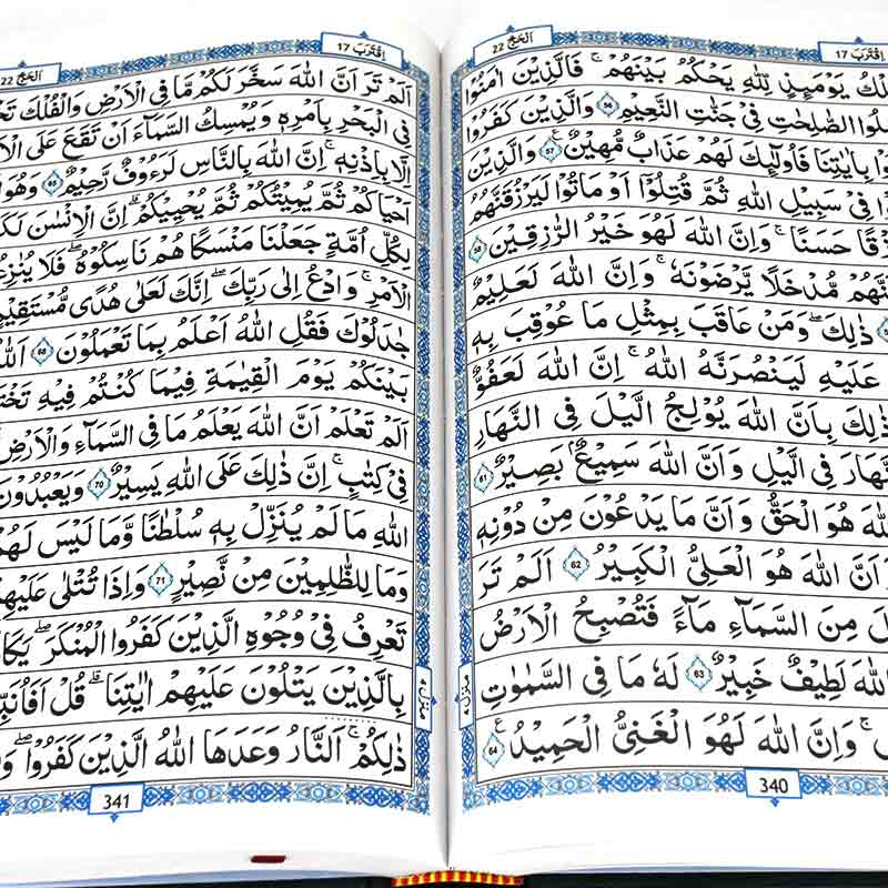 Quran 17 x 24 in Pakistani painting 15 Indian line
