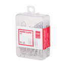 Paper Clip 29mm Steel 100pcs Plastic Case-0025