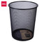 Waste Basket Metal Mesh Black Round