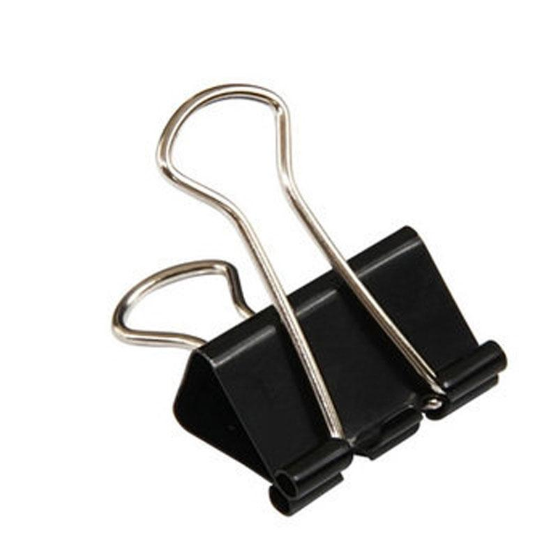 Black Binder Clip 25mm 48Pcs