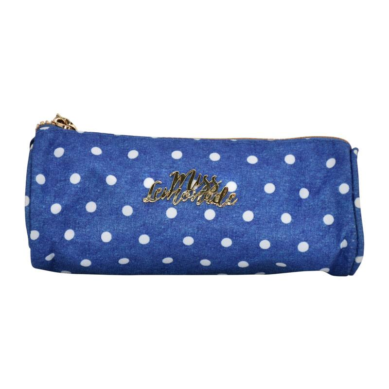 Pencil Case Miss Lemonade Denim Dots